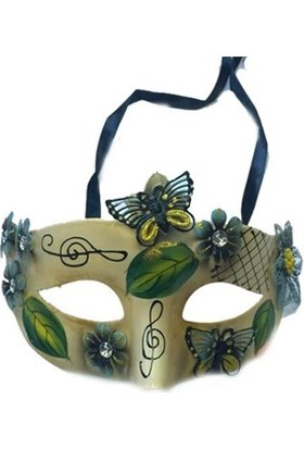 Partistok Parti Maskesi Yeşil Kelebek Temalı