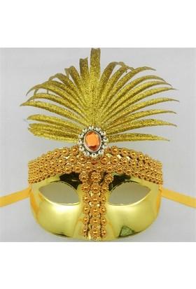 Partistok Sarı Venedik Parti Maskesi