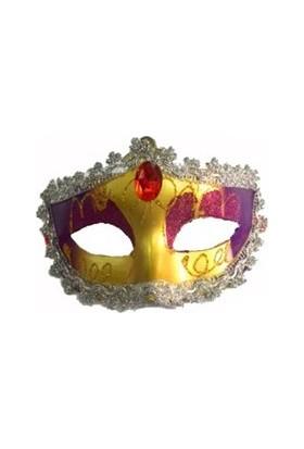 Partistok Venedik Maskesi Parti Maskesi Mor