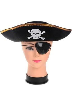 Partistok Çocuk Korsan Şapka Maske Set