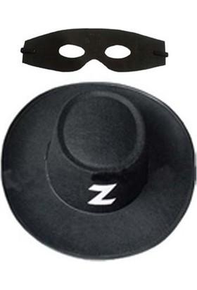 Partistok Zorro Şapka Maske Set Yetişkin