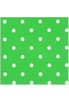 Partistok Yeşil Puanlı Peçete 20 Adet
