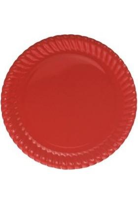 Partistok Kırmızı Karton Parti Tabağı 8'li