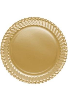 Partistok Altın Karton Parti Tabağı 8'li