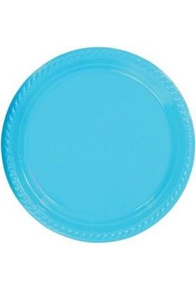Partistok Turkuaz Plastik Parti Tabağı 22 Cm 10 Adet