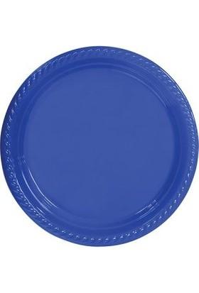 Partistok Mavi Plastik Parti Tabağı 22 Cm 10 Adet