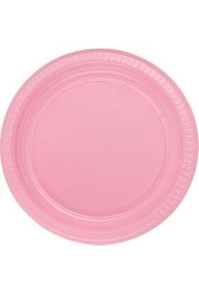 Partistok Pembe Plastik Parti Tabağı 22 Cm 25 Adet