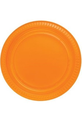 Partistok Turuncu Plastik Parti Tabağı 22 Cm 25 Adet