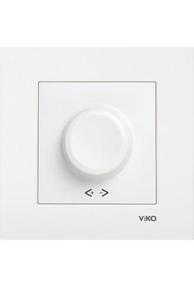 Viko Karre Beyaz Rotatif Dimmer Anahtar Çerçeveli (600 W)