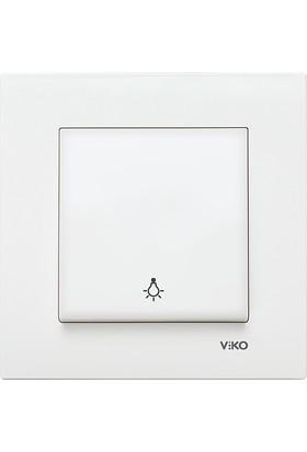 Viko Karre Beyaz Light Anahtarı Çerçeveli