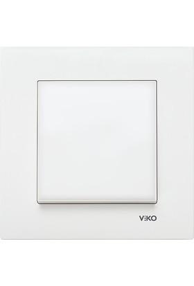 Viko Karre Beyaz Tekli Anahtar Çerçeveli
