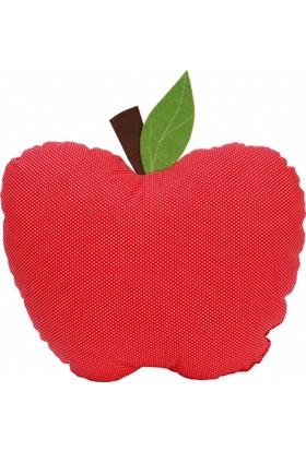 Baby Muu Kırmızı Elma Şeklinde Bebek Dekoratif Yastık