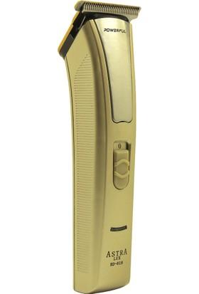Astra Lüx Şarjlı Ense Saç Ve Sakal Traş Makinesi Rd-618 | Gold
