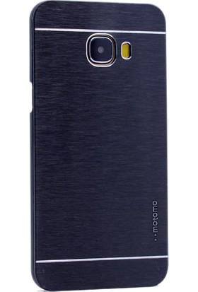Kny Samsung Galaxy C5 Kılıf Metal Motomo +Cam