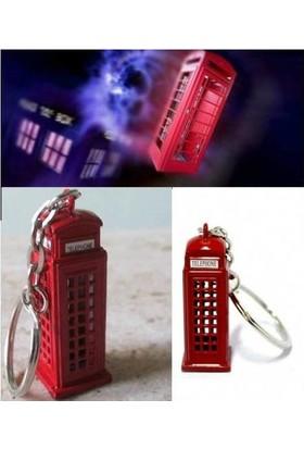 Kayıkcı Dr. Who Telefon Kulübesi Anahtarlık Londra Telefon Kulubesi Anahtarlığı Metal