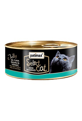 Patimax Jel Tuna Balıklı & Yengeçli Yetişkin Kedi Konservesi 85 gr
