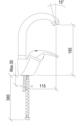 Nsk Kısa Kuğu Lavabo Bataryası