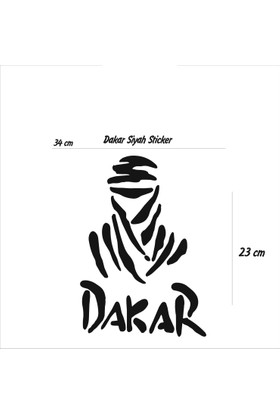 StickerMarket dakar Siyah Sticker