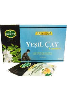 Akzer Yaseminli Yeşil Çay Bitki Çayı