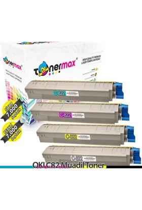 Toner Max® Oki C822 Muadil Toneri - 1 Set Cmyk