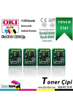 Toner Max® Oki C810 / C830 Toner Çipi