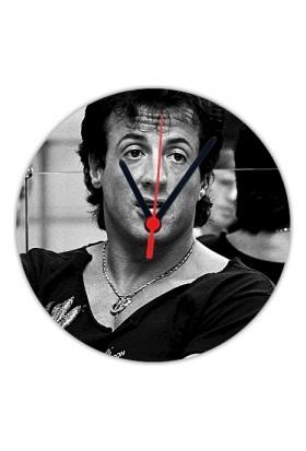 Fotografyabaskı Sylvester Stallone 20 Cm Yuvarlak Hdf Saat Baskı