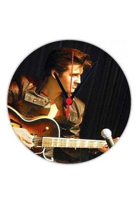 Fotografyabaskı Elvis Presley 20 Cm Yuvarlak Hdf Saat Baskı