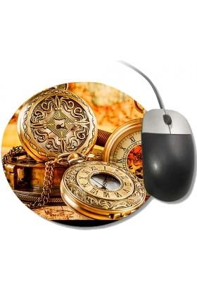 Fotografyabaskı Köstekli Saat Yuvarlak Mouse Pad