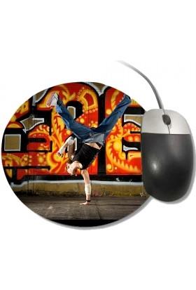 Fotografyabaskı Hip Hop Yuvarlak Mouse Pad