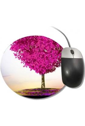 Fotografyabaskı Aşk Ağacı Yuvarlak Mouse Pad