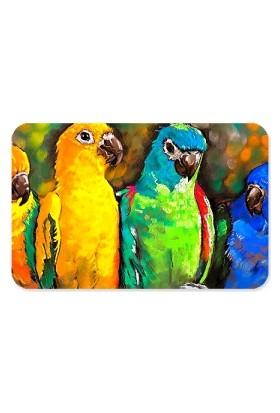 Fotografyabaskı Cennet Papağanları Dikdörtgen Mouse Pad
