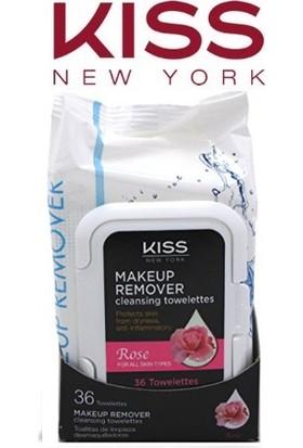 Kiss New York Gül Özlü Makyaj Temizleme Mendili 36'Lı