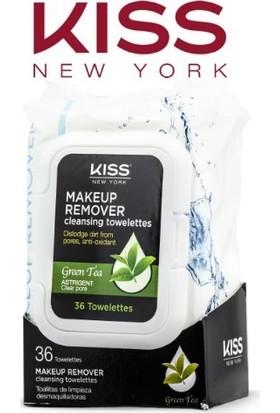 Kiss New York Yeşil Çay Özlü Makyaj Temizleme Mendili 36'Lı