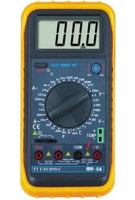 Tt-TechnıcTechnıc My-64 Dijital Ölçü Aleti Avometre