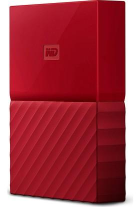 """WD My Passport 1TB2.5"""" USB 3.0 Kırmızı Taşınabilir Disk WDBYNN0010BRD"""