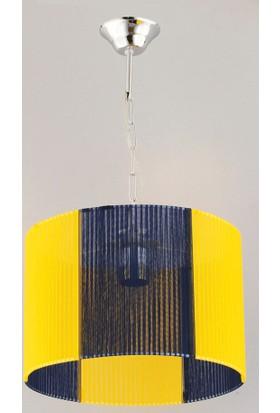 Begüsa Elegance Tekli Sarı-Lacivert