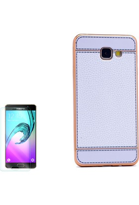 Gpack Samsung Galaxy A5 2016 Kılıf Lazer Deri Silikon + Cam