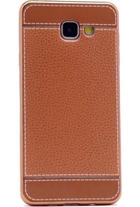 Gpack Samsung Galaxy C7 Kılıf Lazer Deri Silikon