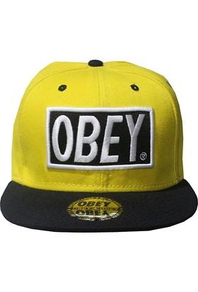 Mitchell & Ness Obey Sarı-Siyah Snapback Cap