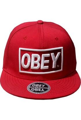 Mitchell & Ness Obey Kırmızı Snapback Cap