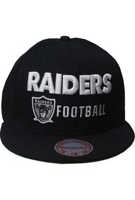 Mitchell & Ness Raiders Football Siyah Snapback Cap