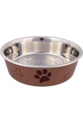 Trixie Köpek Paslanmaz Çelik Mama ve Su Kabı 1,4l/ø21 cm Kahve
