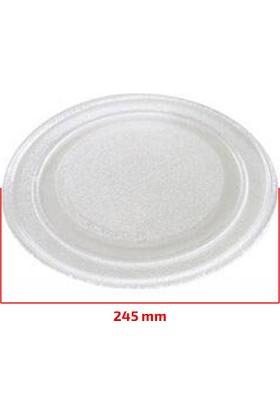 Mikrodalga Fırın Universal Cam Tepsi - 245mm Düz (Deliksiz)