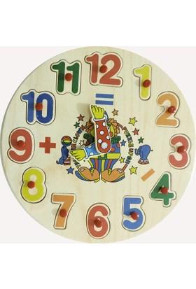 Onyıl Oyuncak Saatli Ahşap Puzzle