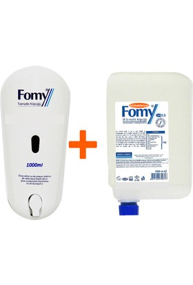 Fomy 1000 ml Antibakteriyel Köpük Sabun Kartuş 6 lı Eko Paket + Fomy Dispenser
