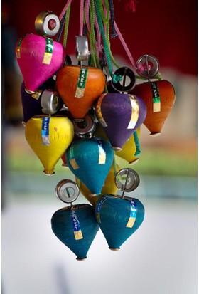 Cide Ahşap Topaç Farklı Renklerde 5 Adet