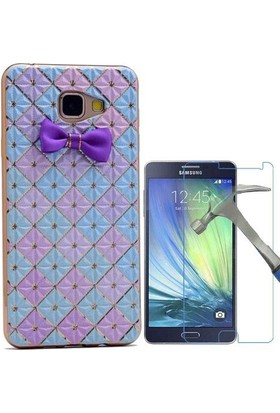 Teleplus Samsung Galaxy A3 2016 Papyon Silikon Kılıf + Cam Ekran Koruyucu