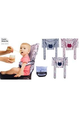 Sevi Bebe Kumaş Mama Sandalyesi Lacivert-Beyaz