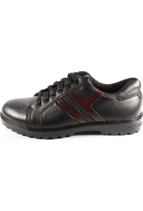 Pablo 268-100 Siyah Deri Erkek Ayakkabı