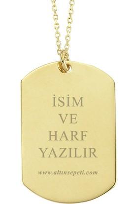 Altınsepeti Altın Asker Künyesi Kolye As1127Kl
